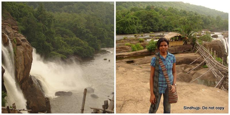 Athirapalli Falls (Ignore my face)