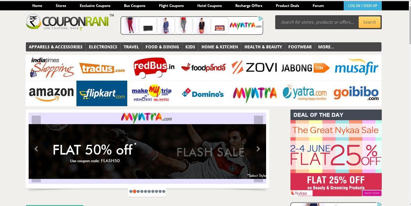 Coupon Rani - Home Page