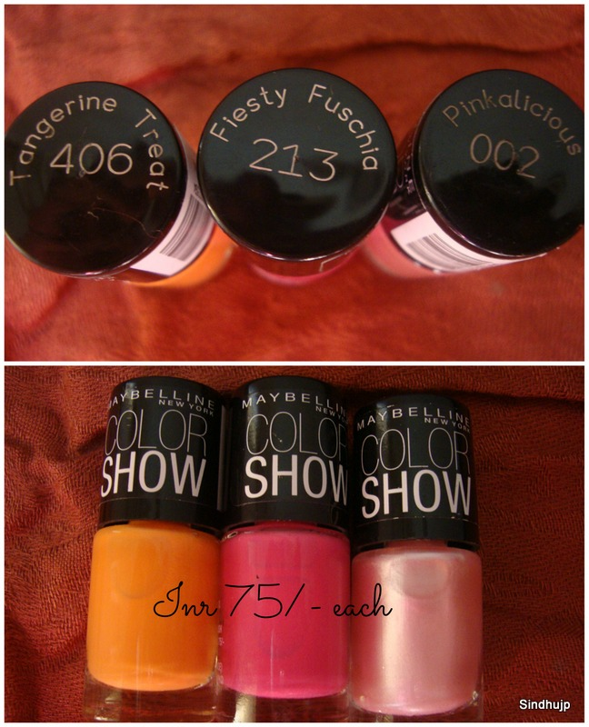 Maybelline Colorshow Tangerine Treat, Fiesty Fuschia, Pinkalacious