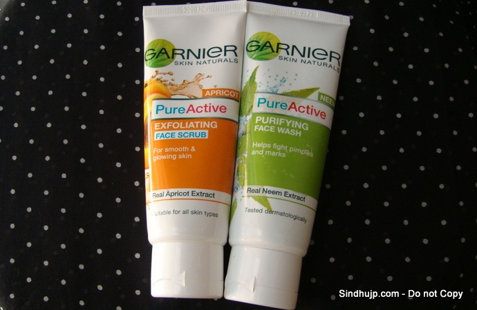 Garnier Pure Active faces wash and scrub