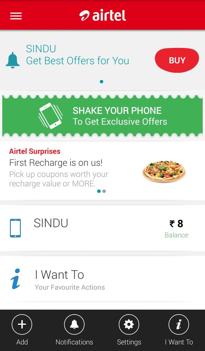 Introducing My Airtel App - Sindhujp
