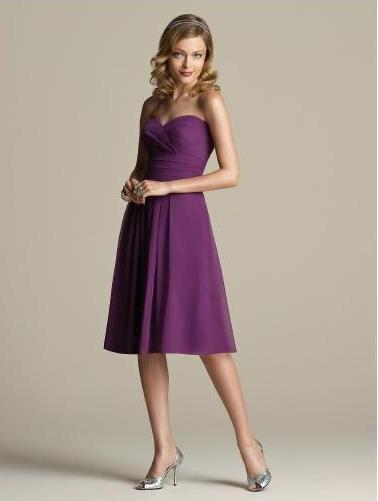 Cheap Bridemaid Dress in Purple color