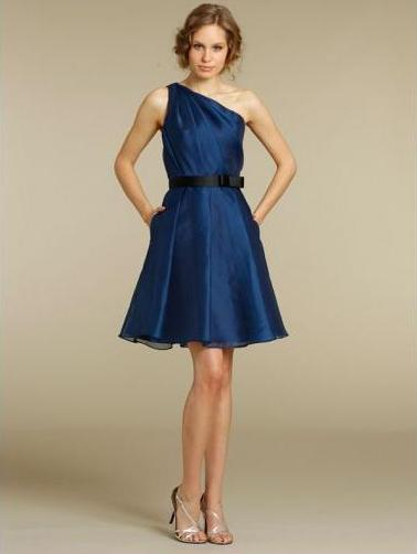 Cheap Bridemaid Dress in blue color