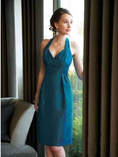 Cheap Bridemaid Dress in teal color