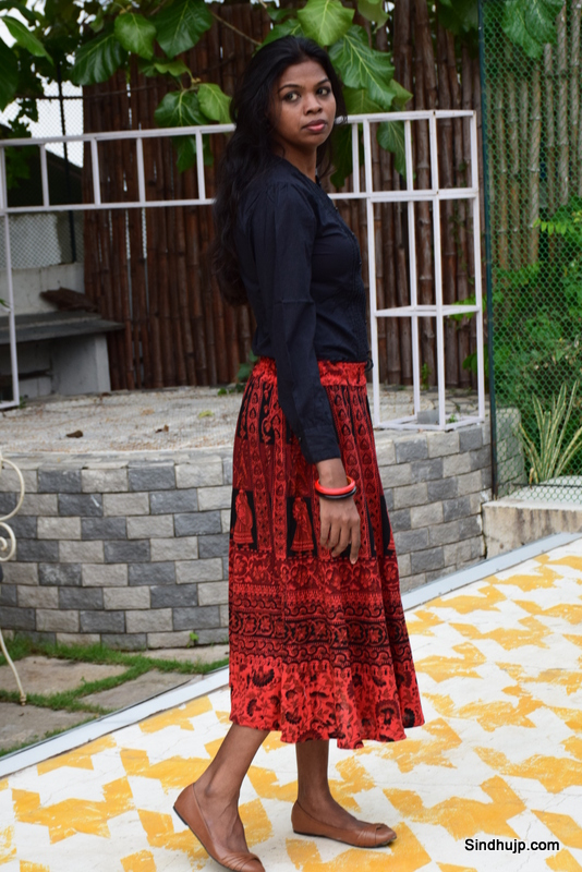 Ethnic Skirt with western top