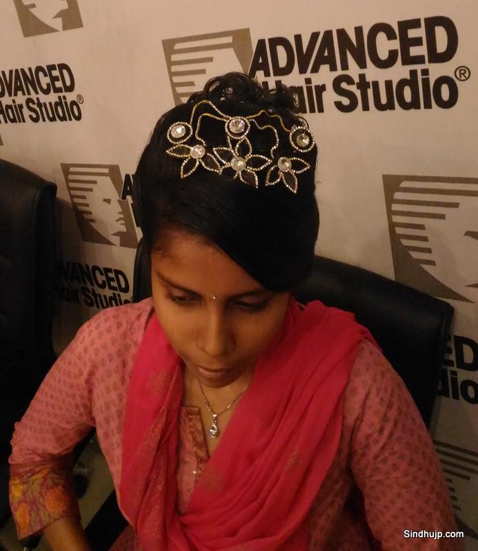 Advance Hair Studio bridal hair do