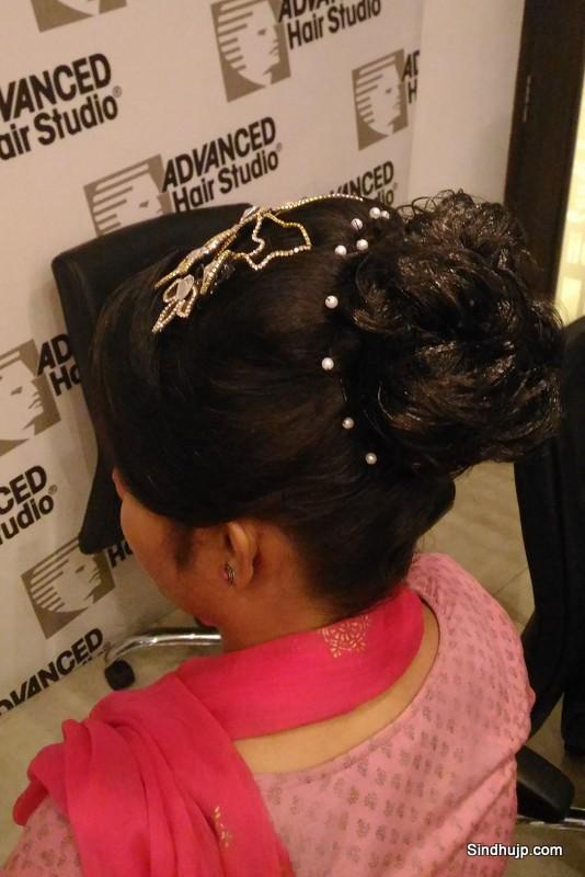 Advance Hair Studio wedding hair do