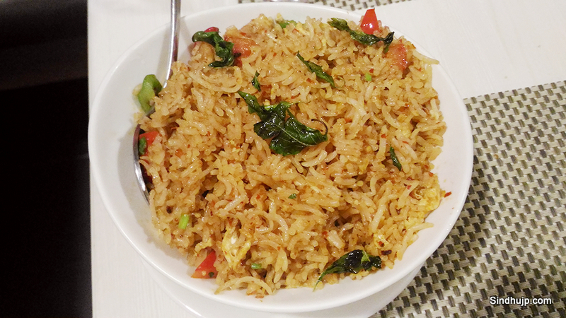 Hunan Rice in Thai roasted chilli