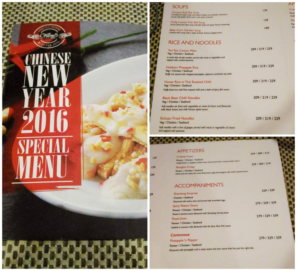 Chinese Kitchen Menu: Wangs Kitchen Celebrating Chinese New Year 2016