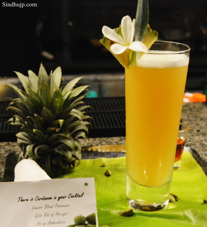 Ananas mist cocktail
