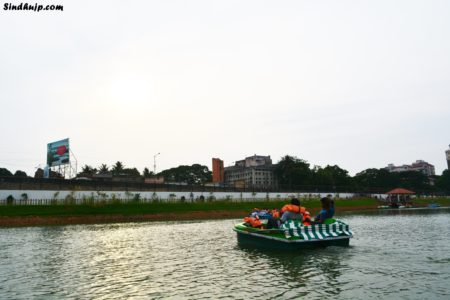 Boating at chetpet lake
