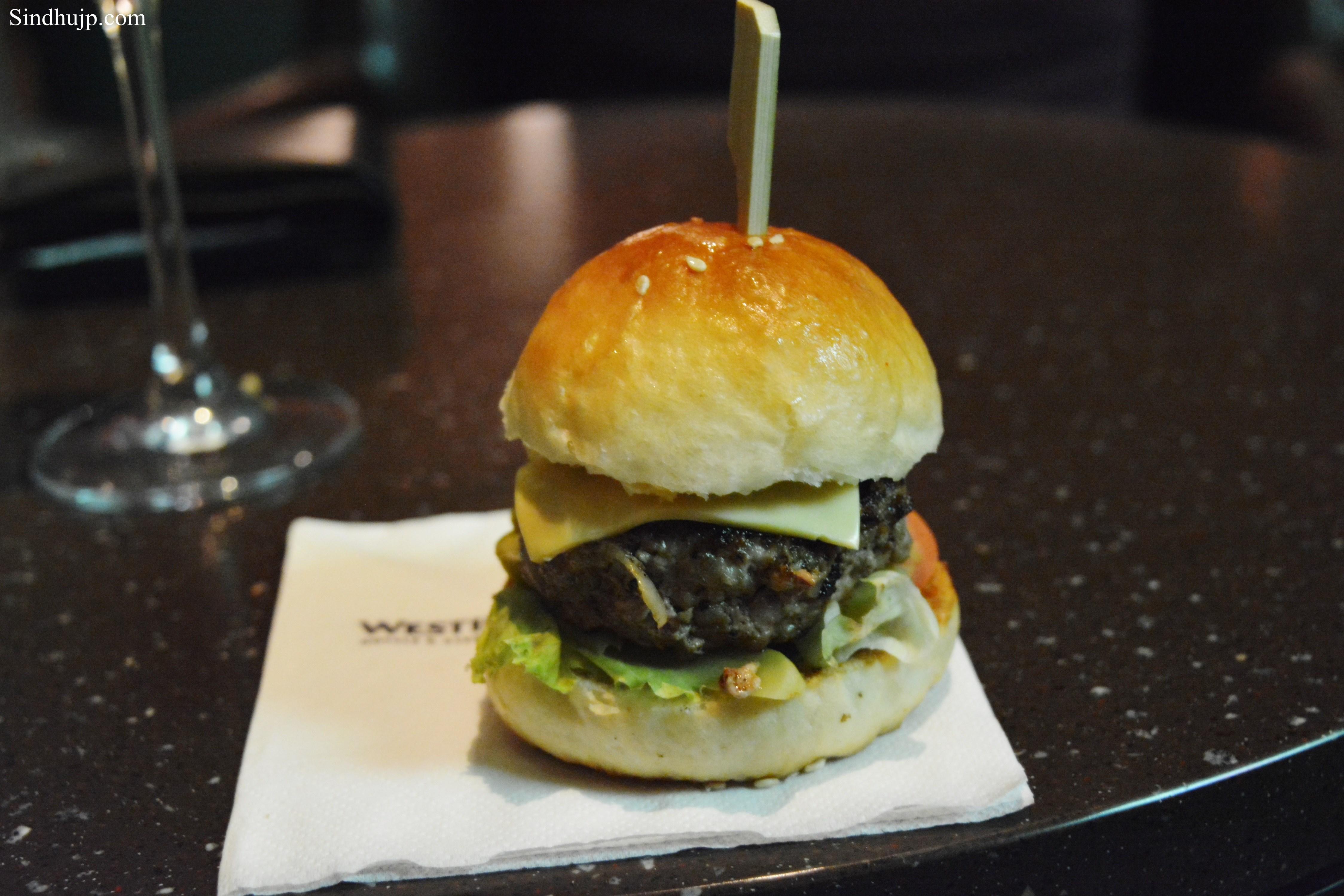 mini lamb burger