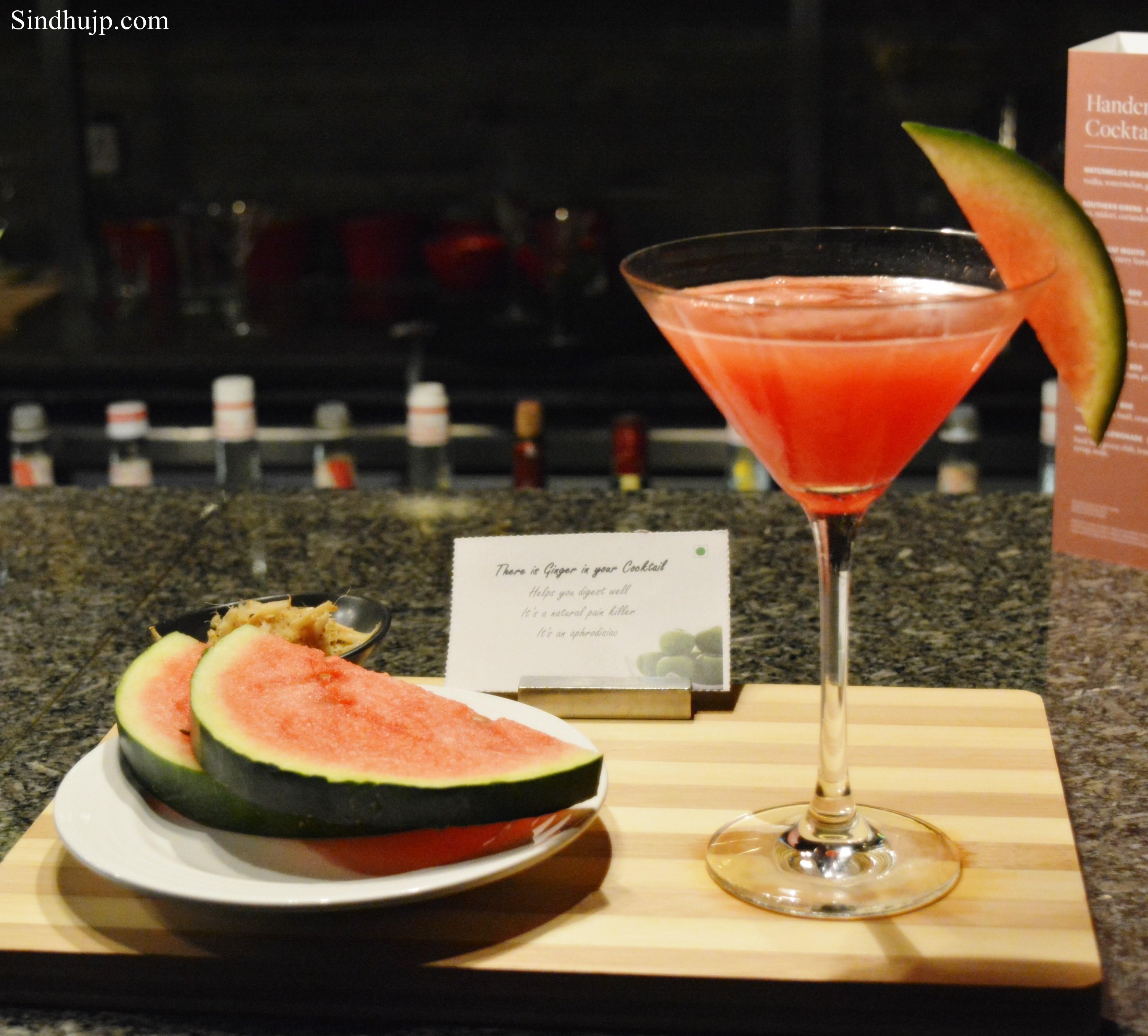 watermelon ginger martini