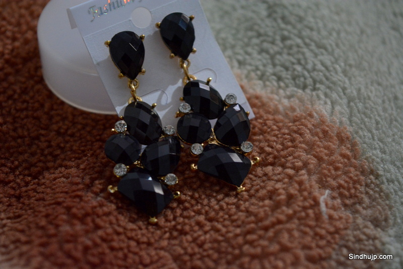 black party wear earrings online