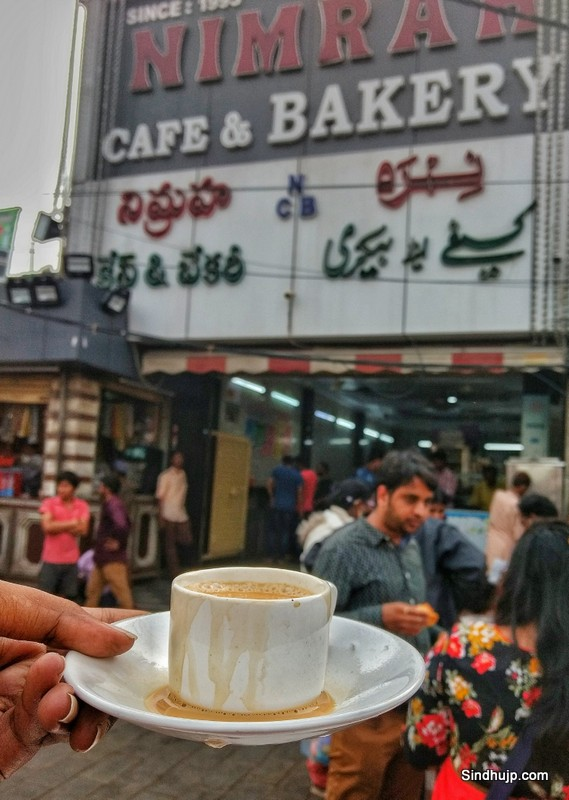 Irani chai at Nimrah cafe
