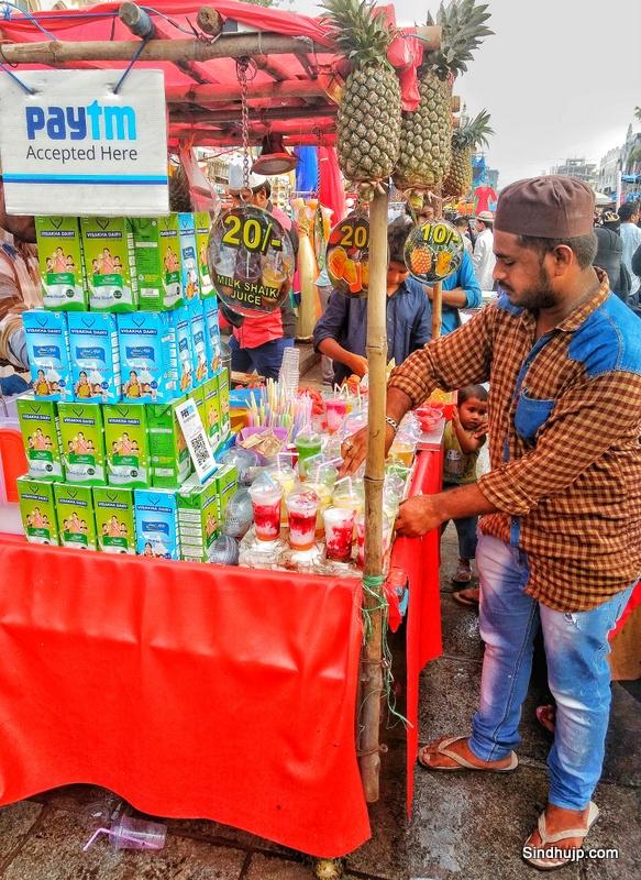 Street food at Charminar