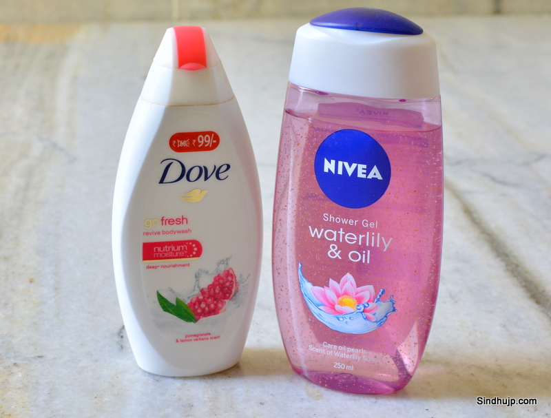 Dove and nivea body wash comparison